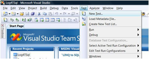 Starting a new database test project in VS2008 DB Pro
