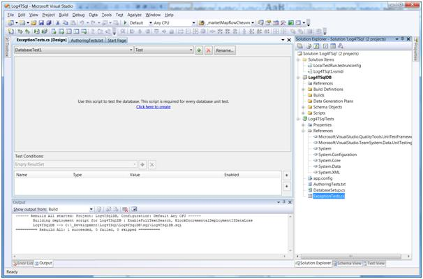 An empty test project in VS2008 DB Pro
