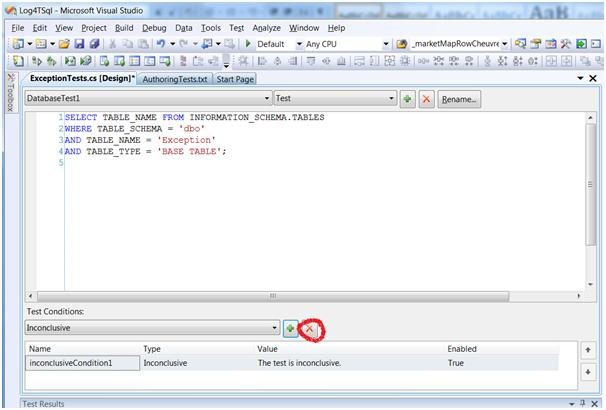 Writing the SQL to test whether a table exists in VS2008 DB pro