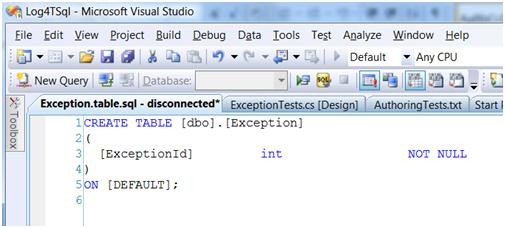 Writing just enough code to pass a database unit test in VS2008 DB pro