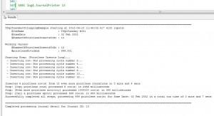 Output from log4.JournalPrinter call